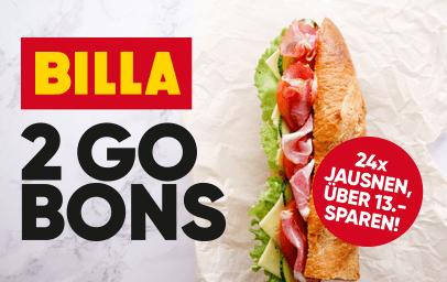 Billa 2 Go Bons - bis 25.09.2019