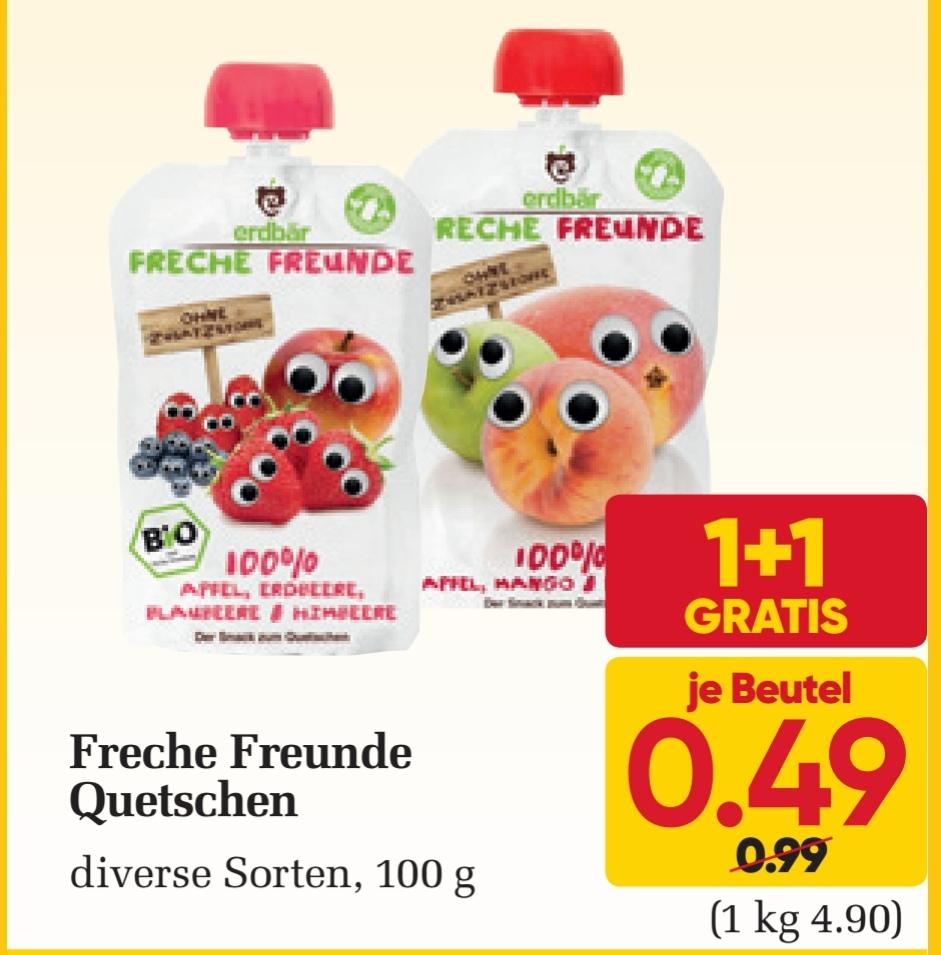 [Billa] Freche Freunde Quetschies 1+1 gratis
