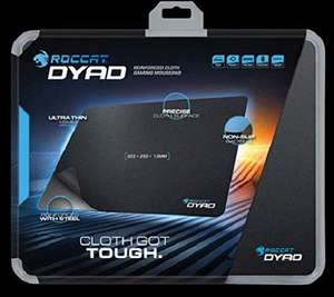 ROCCAT Dyad Reinforced Cloth Gaming Mousepad (325 x 255 x 1,5 mm) || ROCCAT Alumic Double-Sided Mousepad für 22,18 € statt 34,99 €