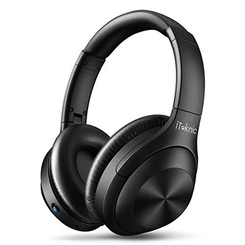 iTeknic Bluetooth Kopfhörer Over-Ear mit aktiver Geräuschunterdrückung