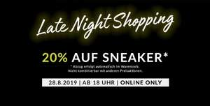Humanic late night shopping - 20% auf Sneakers