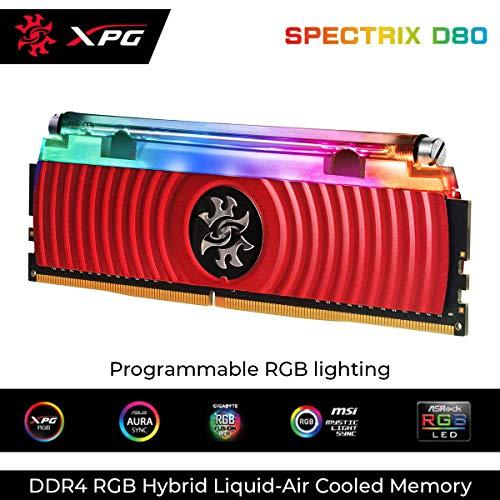 www.AMAZON.de l RAM-JÄGER l  ADATA XPG Spectrix D80 rot DIMM 8GB, DDR4-3200, CL16-18-18 (AX4U320038G16-SR80)