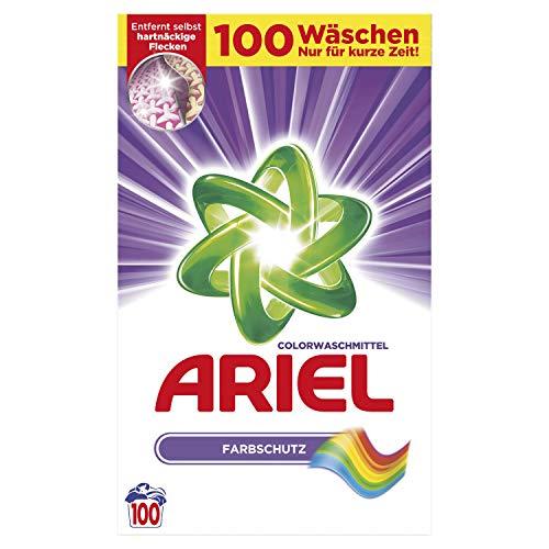 www.AMAZON.de l Waschjäger l  Ariel Colorwaschmittel Pulver Farbschutz, 2er Pack(2 x 100 Waschladungen)