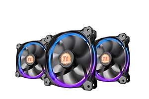 Thermaltake Riing 12 RGB LED 120 mm verstellbar Farbe Fall Heizkörper Fan Triple Pack 120 mm
