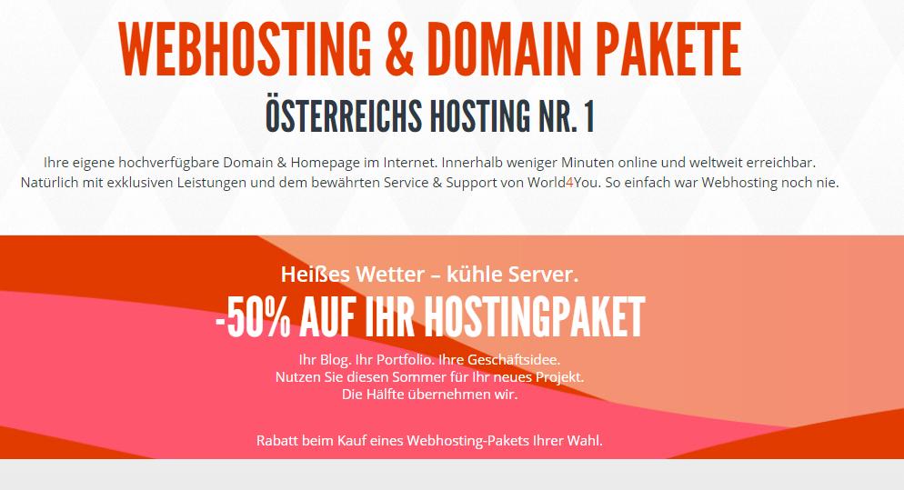 Webhosting aus Österreich - Domainserver Sommeraktion