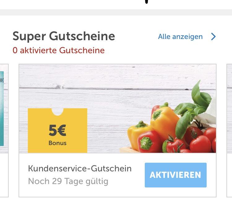 5€ Gutschein vom Kundenservice