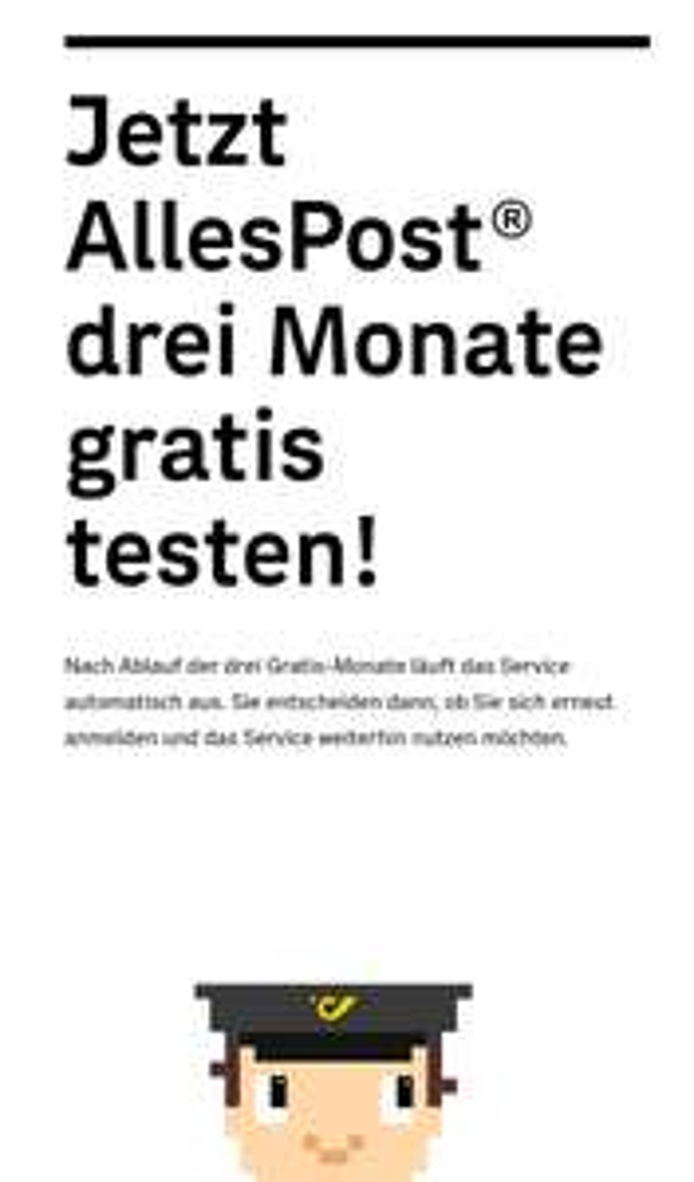 Jetzt AllesPost drei Monate gratis testen!