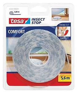 18x Tesa 55347 Insect Stop Moskitonetz Attacca & Stack Rolle, Weiß