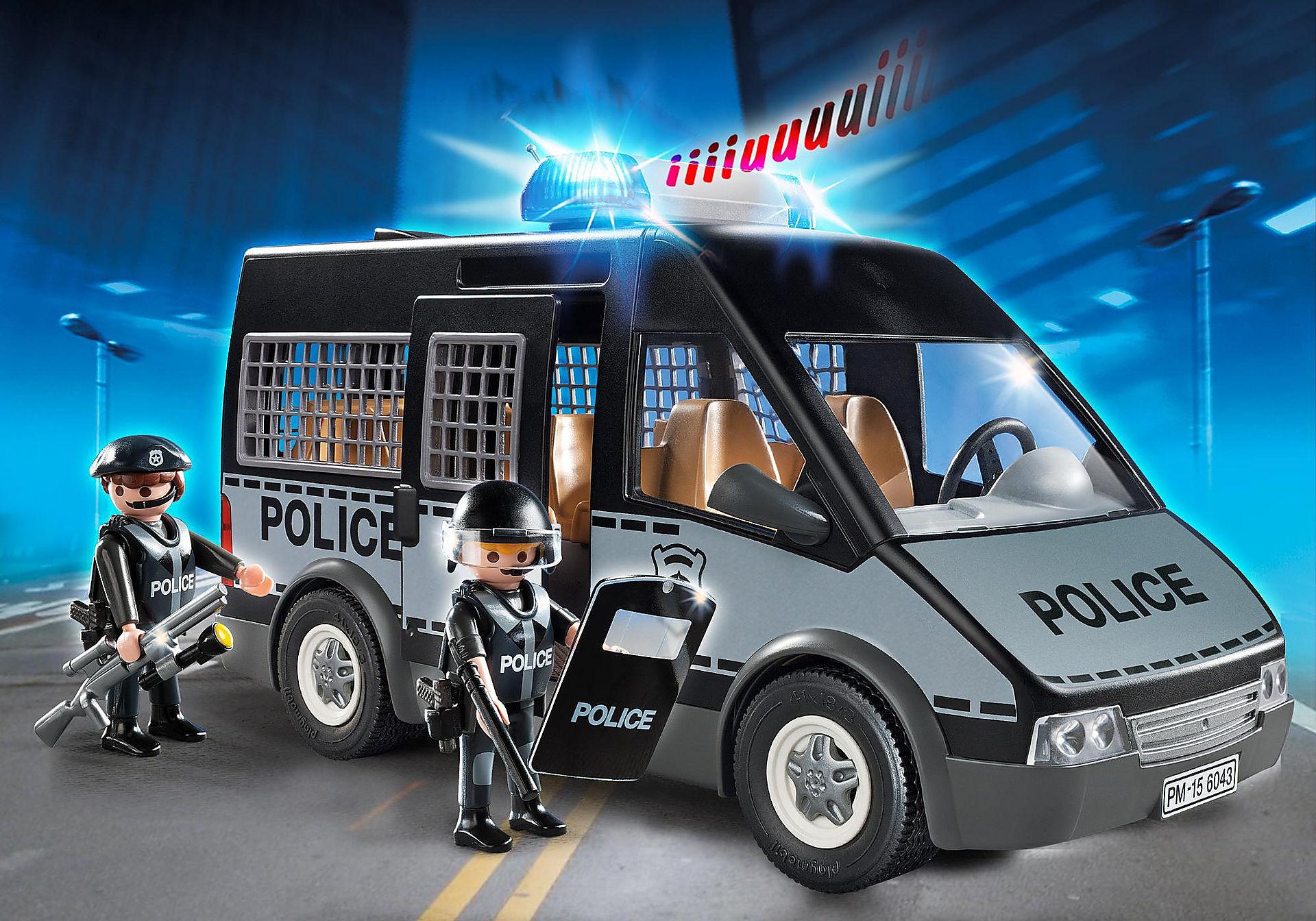 Playmobil 6043: Polizei-Mannschaftswagen mit Licht und Sound