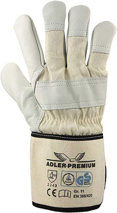 [Amazon] 12 Paar Rindnarbenleder-Handschuhe Grösse 8 und 11 für 5,99€
