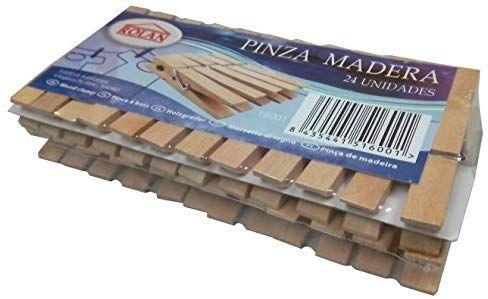 24 x Rolan Wäscheklammern Holz