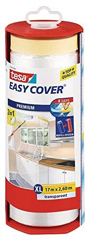 24x Tesa 57116 Easy Cover Film Premium Malerband 33 m x 1400 mm, transparent