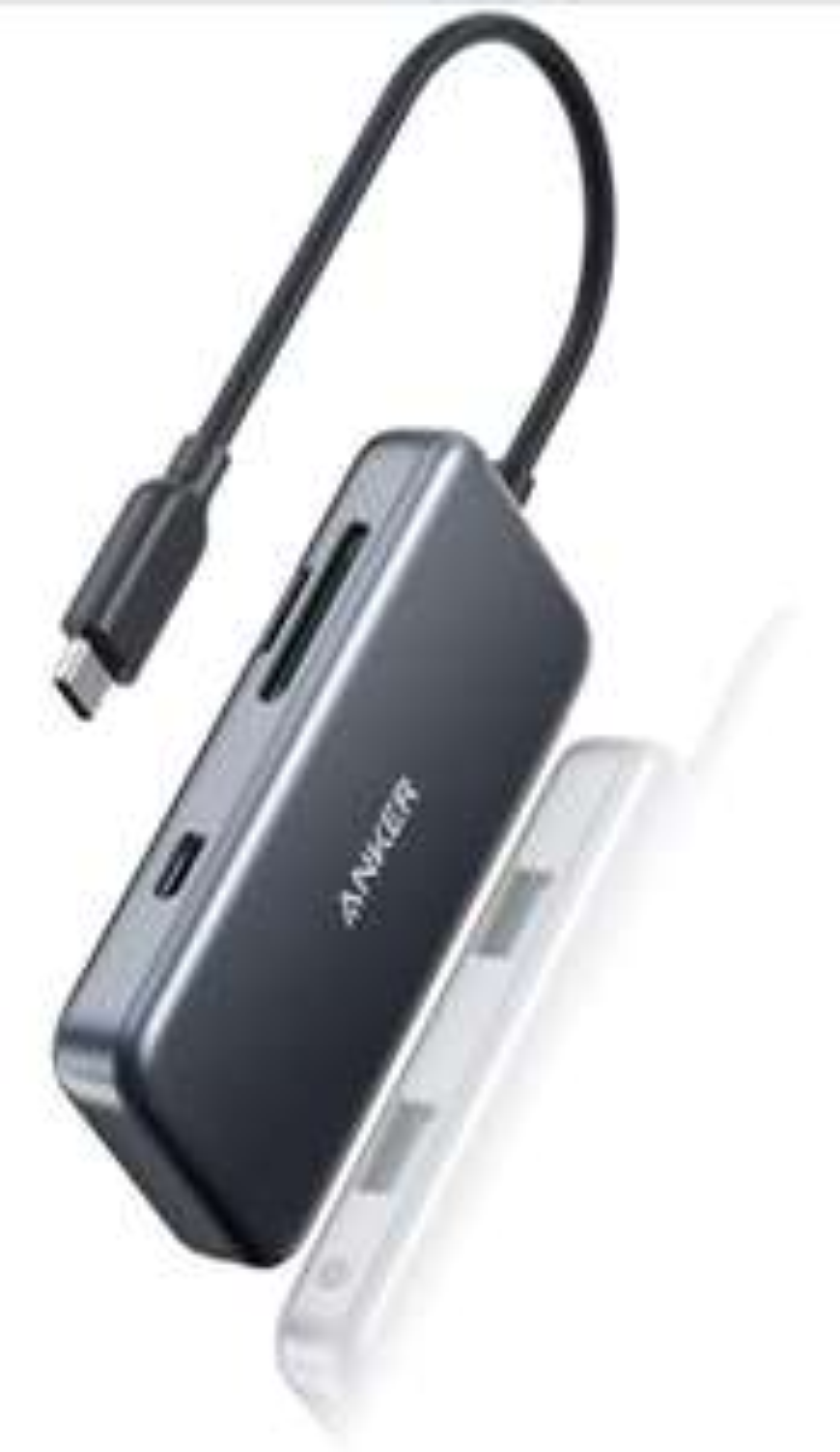 Anker 5-in-1 USB-C Hub, 60W Power Delivery Adapter, microSD / SD-Speicherkartenleser, 2 USB 3.0 Ports