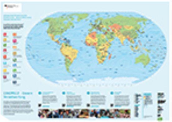 [GRATIS] Weltkarte 138 x 98 cm inkl. Versand (max. 5 Stück)