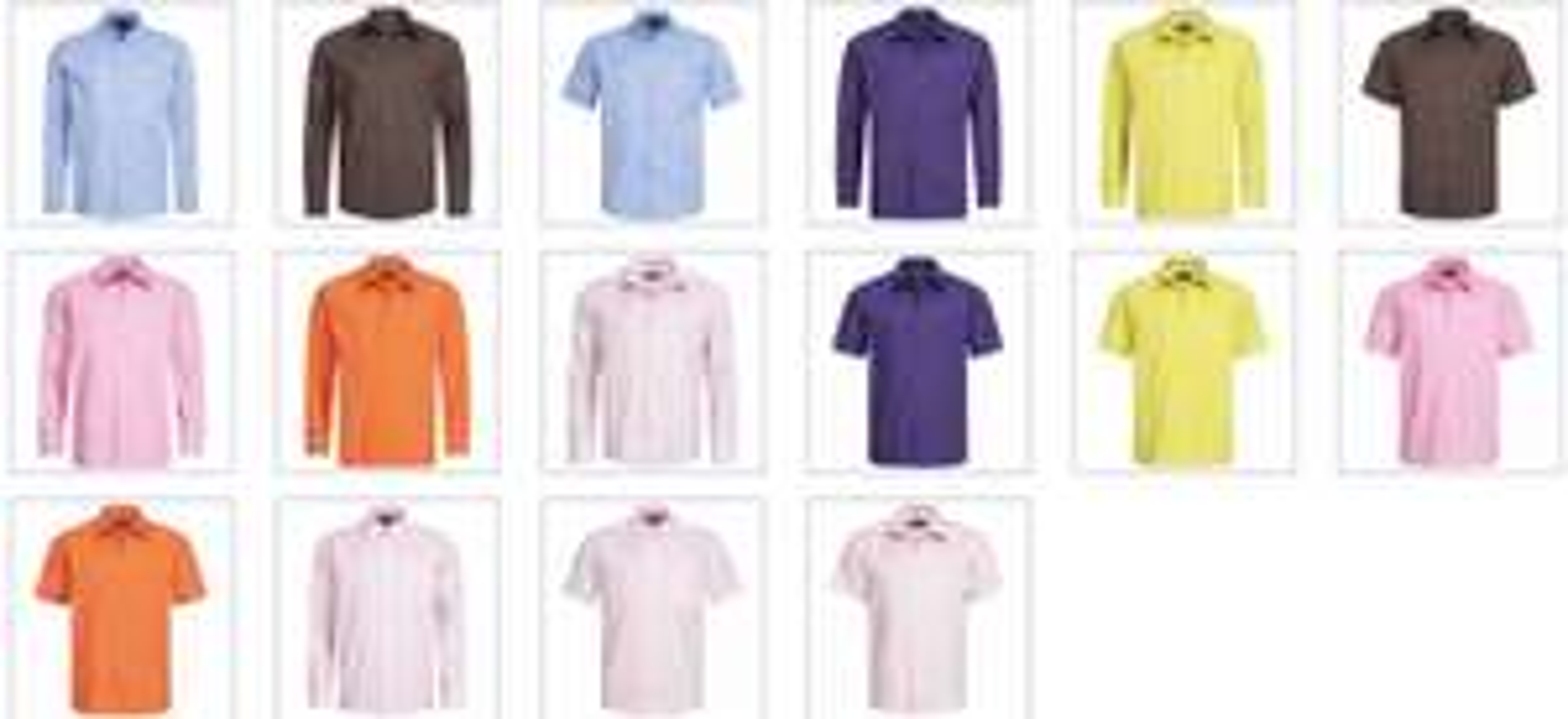 RUSSELL Lang/Kurzarm Hemden für DAMEN und HERREN in vielen Farben und Größen