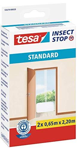 15x Tesa 55679 Insect Stop Moskitonetz, Standard für Türen, 2.2 m x 1200 mm, Weiß