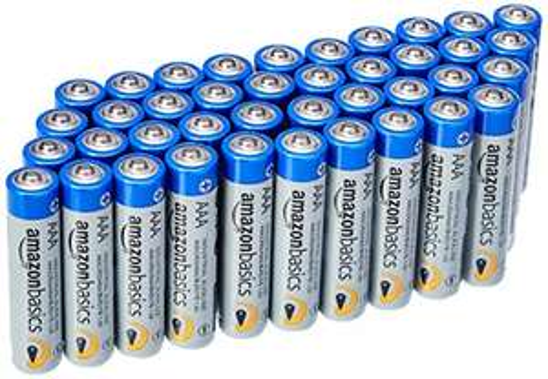 (Prime) AmazonBasics AAA Industrie Alkalibatterien, 40er Pack