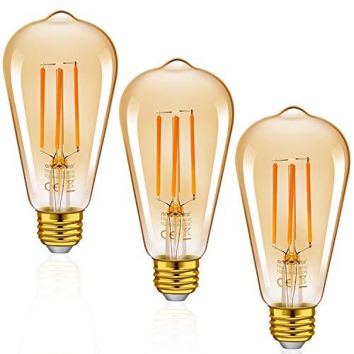 3x E27 oder 6x E14, Retro LED Birnen