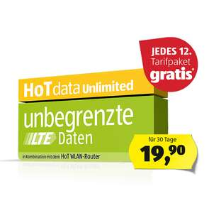 HOT unlimited Internet 30Mbit 18,25€/Mo