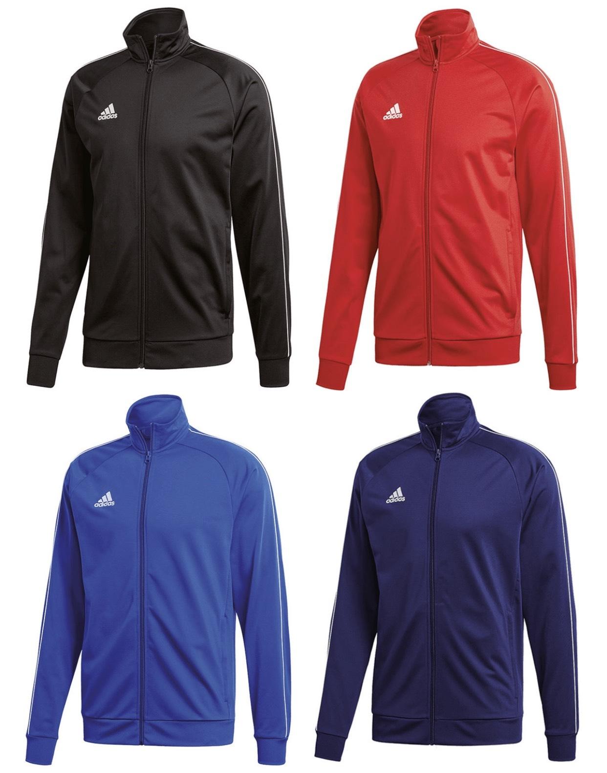 Adidas Trainingsjacke Core 18 Doppelack in 4 Farben und vielen Größen frei konfigurierbar