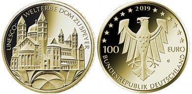 Goldmünze unter Rohstoff-Spotpreis  (UNESCO Welterbe - Dom zu Speyer)
