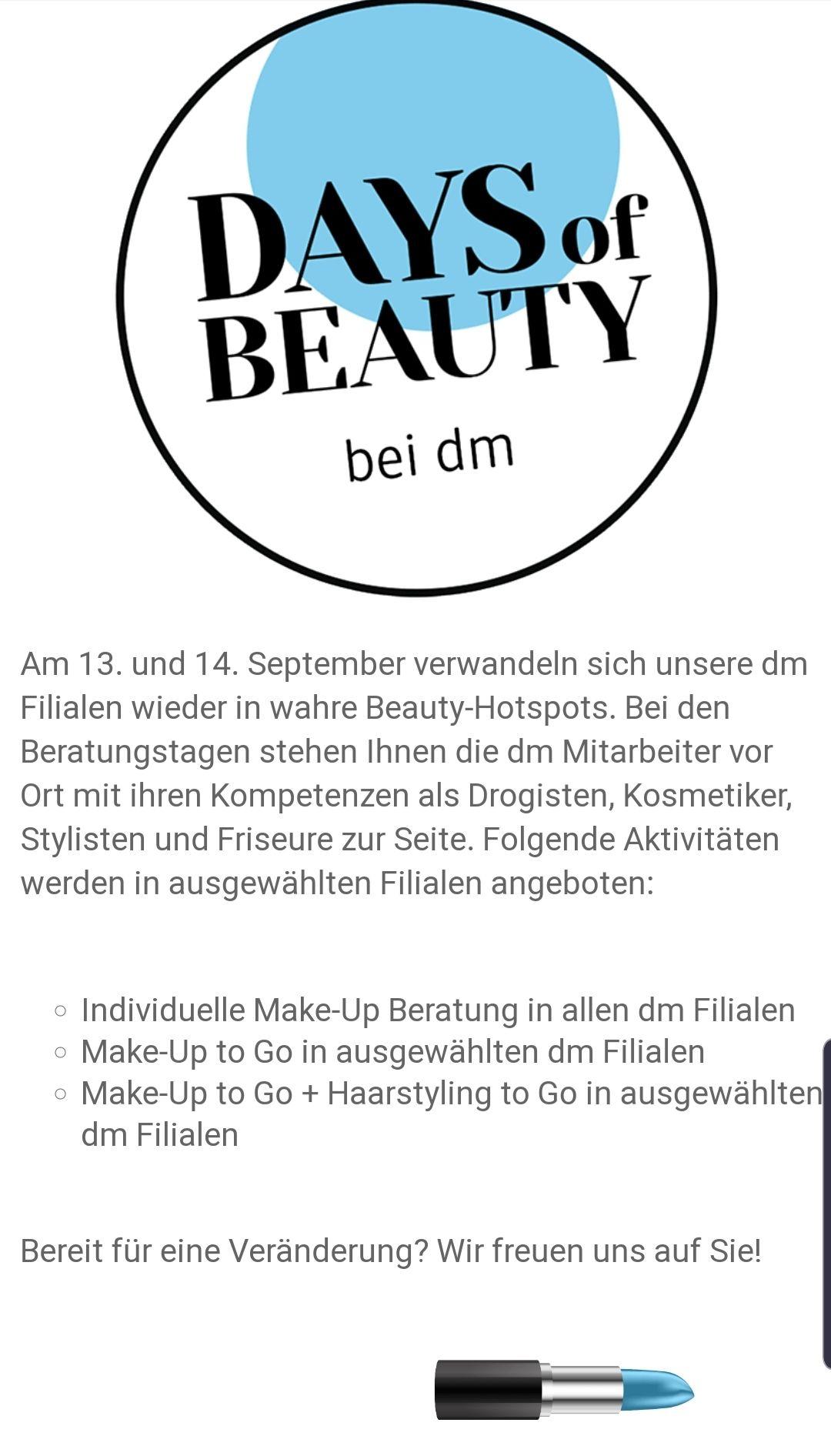 Days of Beauty bei dm