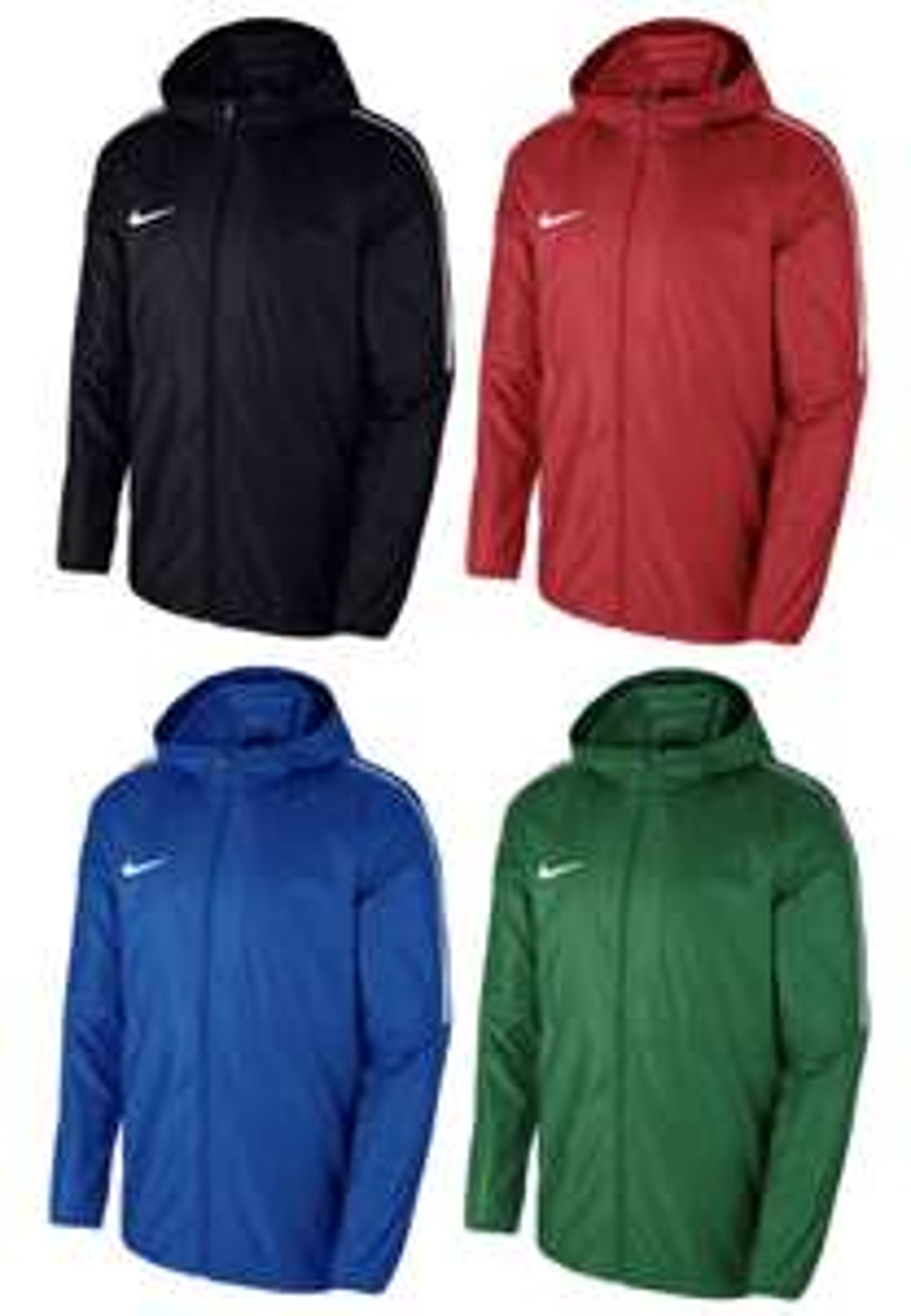 Nike Regenjacke Park 18 in Blau, Rot, Schwarz oder Grün