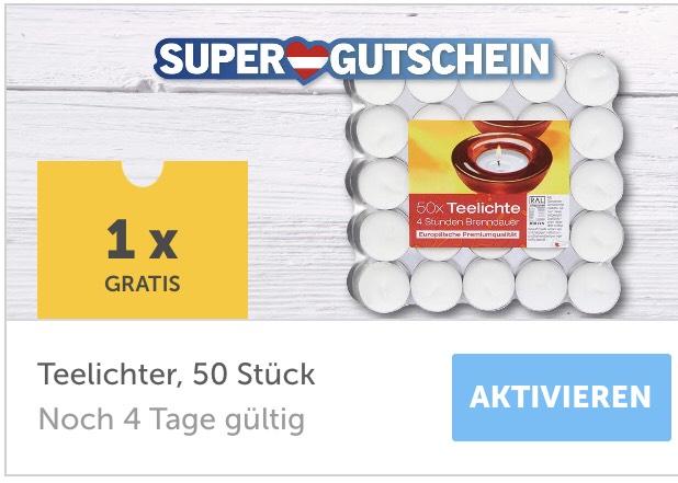 50 Stk.-Pkg. Teelichter gratis