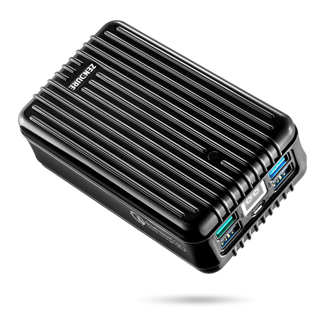 Zendure A8QC 26800mAh Powerbank Externer Akku, Akkupack mit Qualcomm Quick Charge 3.0, kompakter Zusatzakku mit 4-Port und LED Dislay