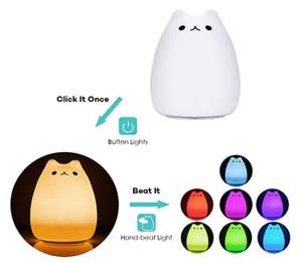 [kleiner Preisjäger] Haofy LED Kind Nachttischlampe Dimmbar mit 8 Augenfreundlich Lichtmodi