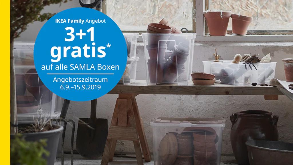 [Ikea] 3+1 auf SAMLA Aufbewahrungsboxen