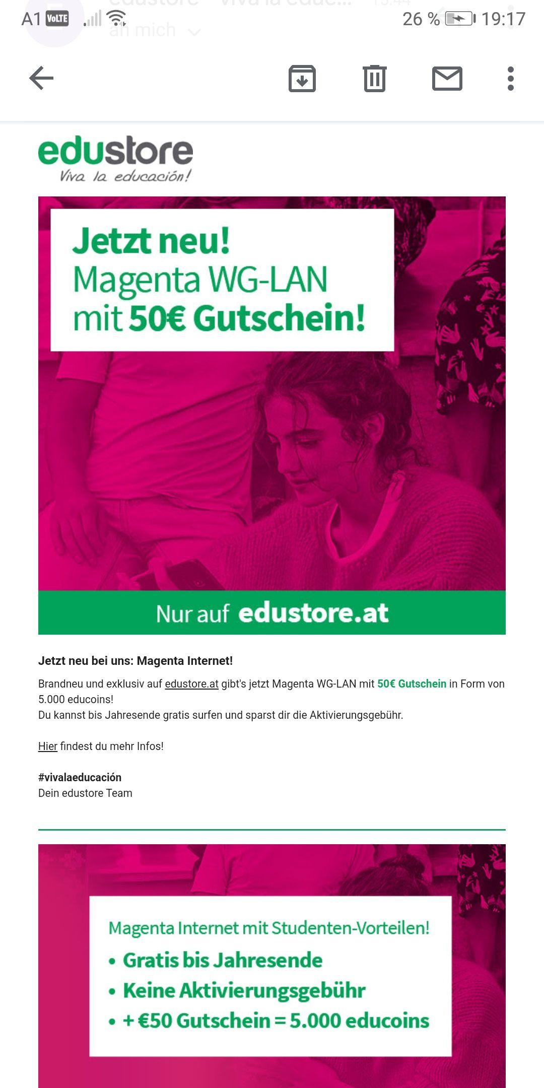 Educom Magenta 50€ Gutschein