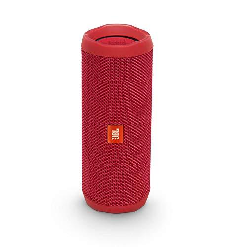JBL Flip 4 Bluetooth Box in Rot (Wasserdichter, tragbarer Lautsprecher mit Alexa-Integration – Bis zu 12 Stunden Wireless Streaming)
