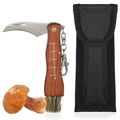 Oramics Pilzmesser mit Bürste und Lineal (auch als Taschenmesser nutzbar)