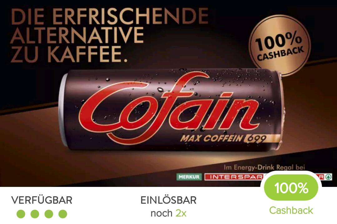 2x gratis Cofain Energydrink