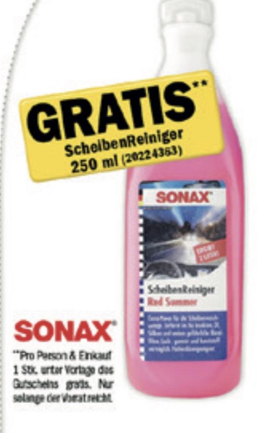Gratis Sonax Scheibenreiniger 250ml bei Einkauf beim Forstinger