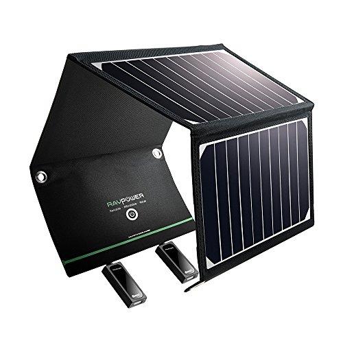 RAVPower Solar Ladegerät - 2 USB Ports, 16 Watt / 3,2A