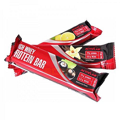 Activlab High Whey Protein Bar, Vanille (24x 80g), 1er Pack (1 x 24 Stück)