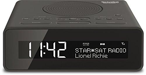 TechniSat Digitradio 51 Radiowecker (DAB+, UKW, zwei einstellbare Weckzeiten, Snooze-Funktion, dimmbares Display)