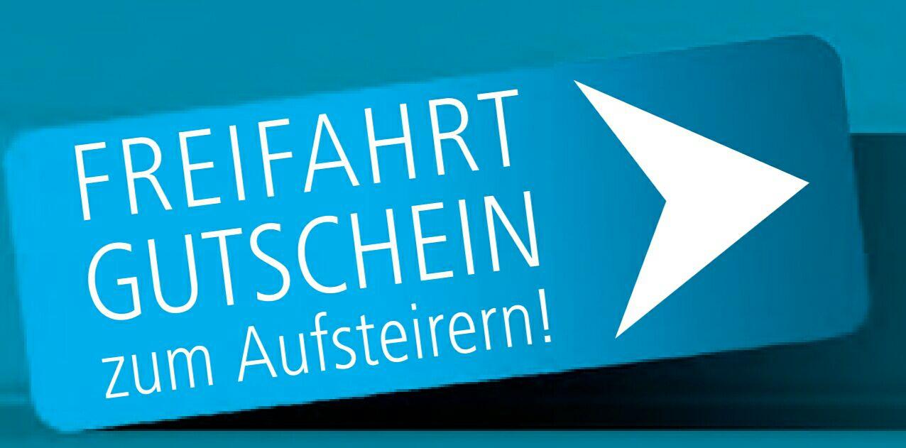Gratis mit der ST.S-Bahn/Regiobahn nach Graz (Eisernen Tor) und zurück am 15.09.