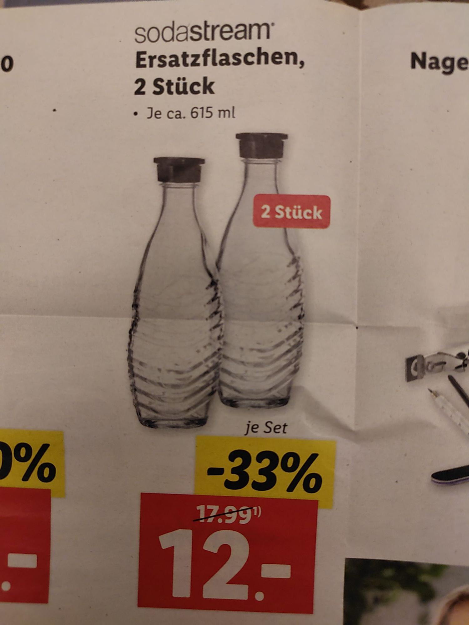 [Lidl] Sodastream Glaskaraffen Doppelpack