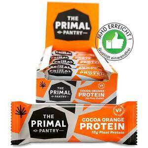 The Primal Pantry Cocoa Orange Protein Riegel 15 x 55g MHD