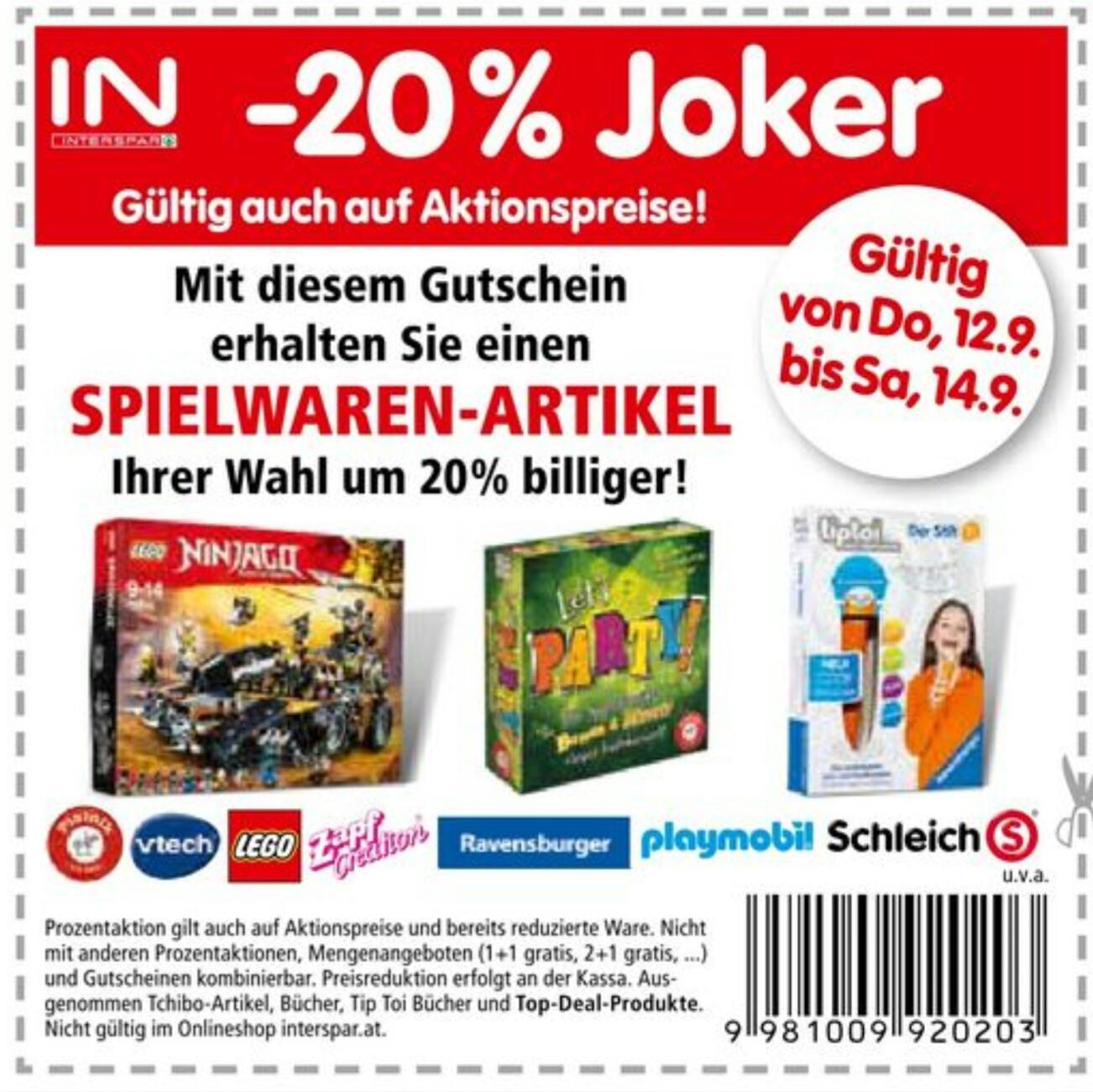 """[Interspar] -20% Rabatt auf Spielwaren Artikel inkl. Aktion und Sale z.B.""""Kosmos EXIT Die verlassene Hütte"""" um nur 6,40€ statt 12,93€ (-50%)"""