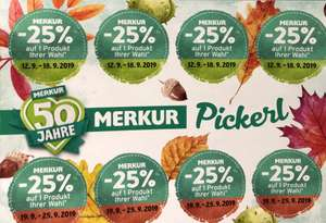 Merkur -25% Rabatt Pickerl