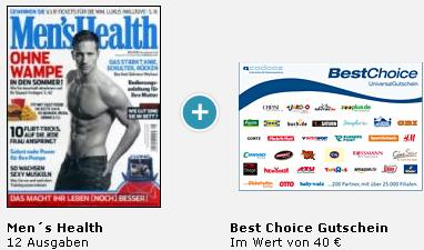 Men's Health Jahresabo für rechnerisch 1€