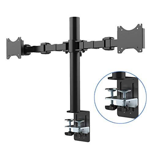 """Fleximounts D1D Monitorhalter für 2 Monitore 10""""-27""""(25-68cm), Belastbarkeit:10 kg/pro Monitor"""