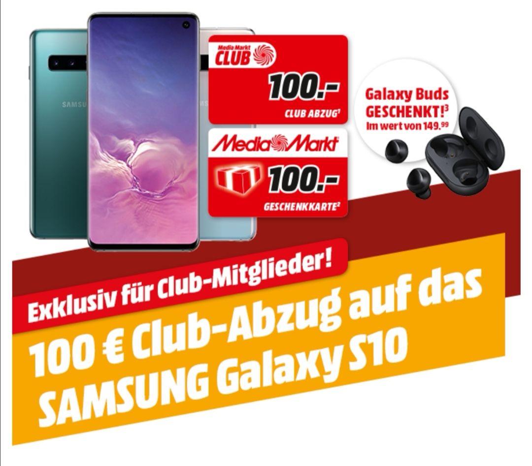 Samsung Galaxy S10 200,- + 100,- Abzug im Media Markt Club