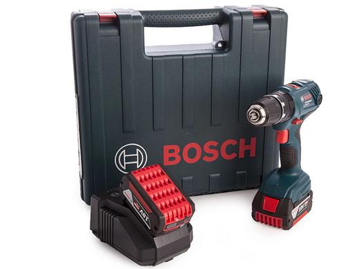 Bosch GSB18-V21 18V Akkubohrschrauber mit Transportkoffer und 2 x 4 Ah Akku