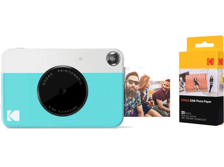 KODAK Sofortbildkamera Printomatic + Kodak ZINK Fotopapier 2x3 Zoll, 20 Blatt