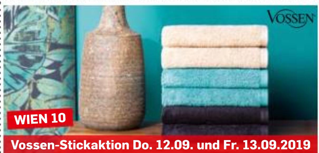 [Möbel Ludwig] Vossen Handtuch kaufen-gratis Stickaktion